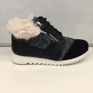 giuseppe zanotti jr NIB furry lined lowtop sneaker